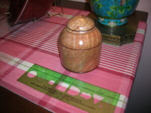 Pet urn for Stremel Family