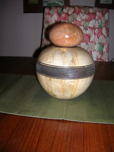 Urn for Wilson Family Maple and Bradford Pear