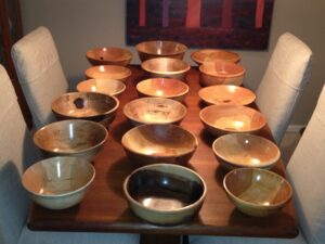 BOWLS FOR THE CLINTON FOUNDATION